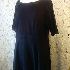 eShakti black cotton knit dress-sz 2X (20 W)